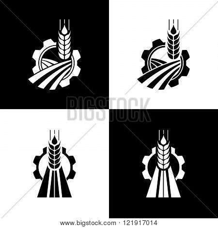 Agriculture Logo set Template Design. Icon Sign or Symbol. farm nature ecology. Vector