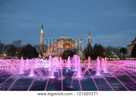 Hagia Sophia museum in Istanbul City, Turkey ** Note: Soft Focus at 100%, best at smaller sizes