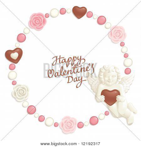 Valentine candy frame