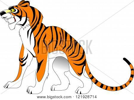 angry tiger on the loose vector and illustration