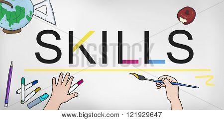 Skills Job Profession Expertness Aptitude Concept
