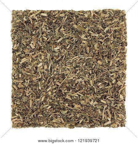 Heartease leaf herb used in natural alternative herbal medicine over white background. Viola tricolour.