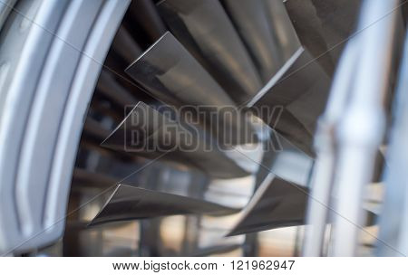engine part, the turbine from a military aircraft metal