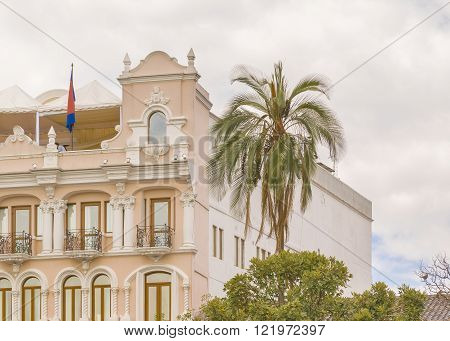 Neoclassical Style Building At Historic Center Of Quito