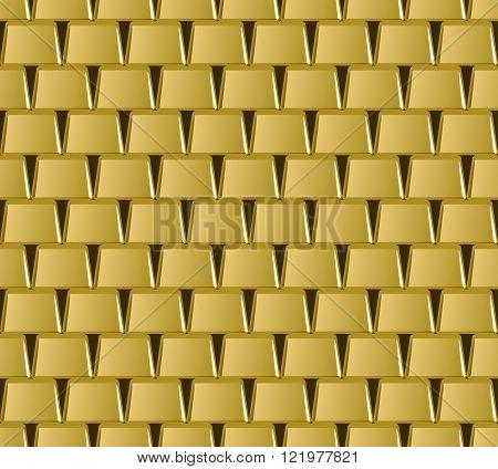 Golden bar stack seamless pattern