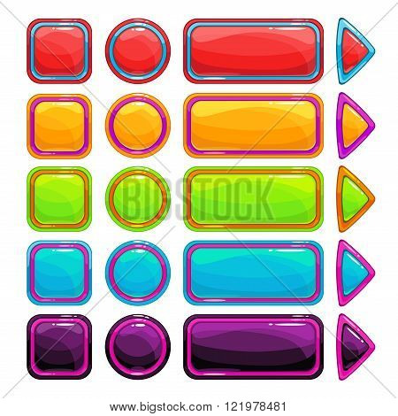 Colorful bright buttons set