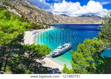 beautiful Greek islands - Karpathos, Apella beach