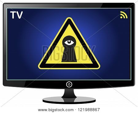 Smart TV spying on You. Smart TVs can track the way you use the television and share the data with third parties