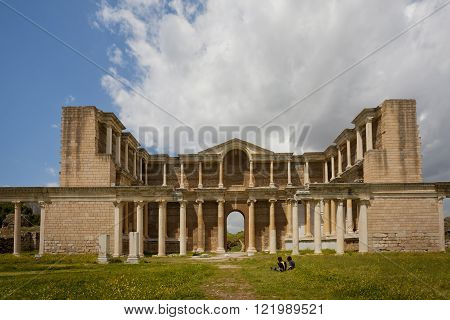 Gymnasium At Sardis In Turkey