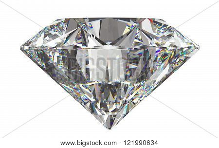 Side View Of Round Diamond With Isolated