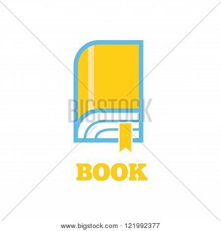 Book Logo Sign Design Flat