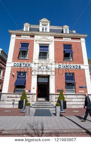 AMSTERDAM-APRIL 30: The Diamond Museum Amsterdam building on April 302015 the Netherlands. The Diamant Museum is a diamond-themed museum located in the city's museum quarter.