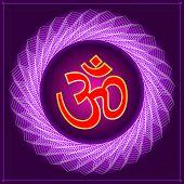 Aum (Om) The Holy Motif Vector Art poster