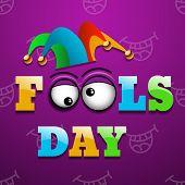 illustration Celebrating April Fools' Day vector eps 10 poster