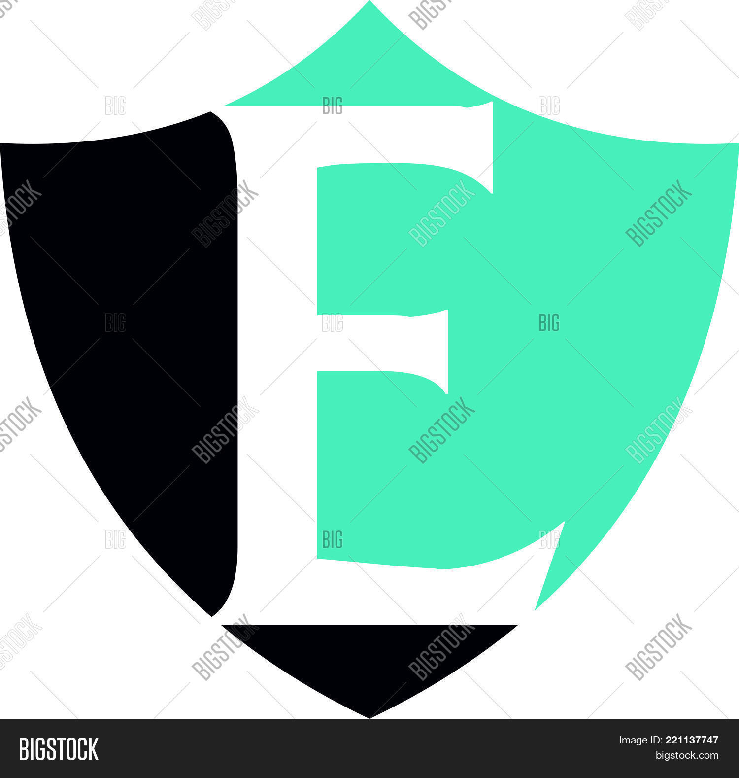 Modern Shield Letter Vector & Photo (Free Trial) | Bigstock