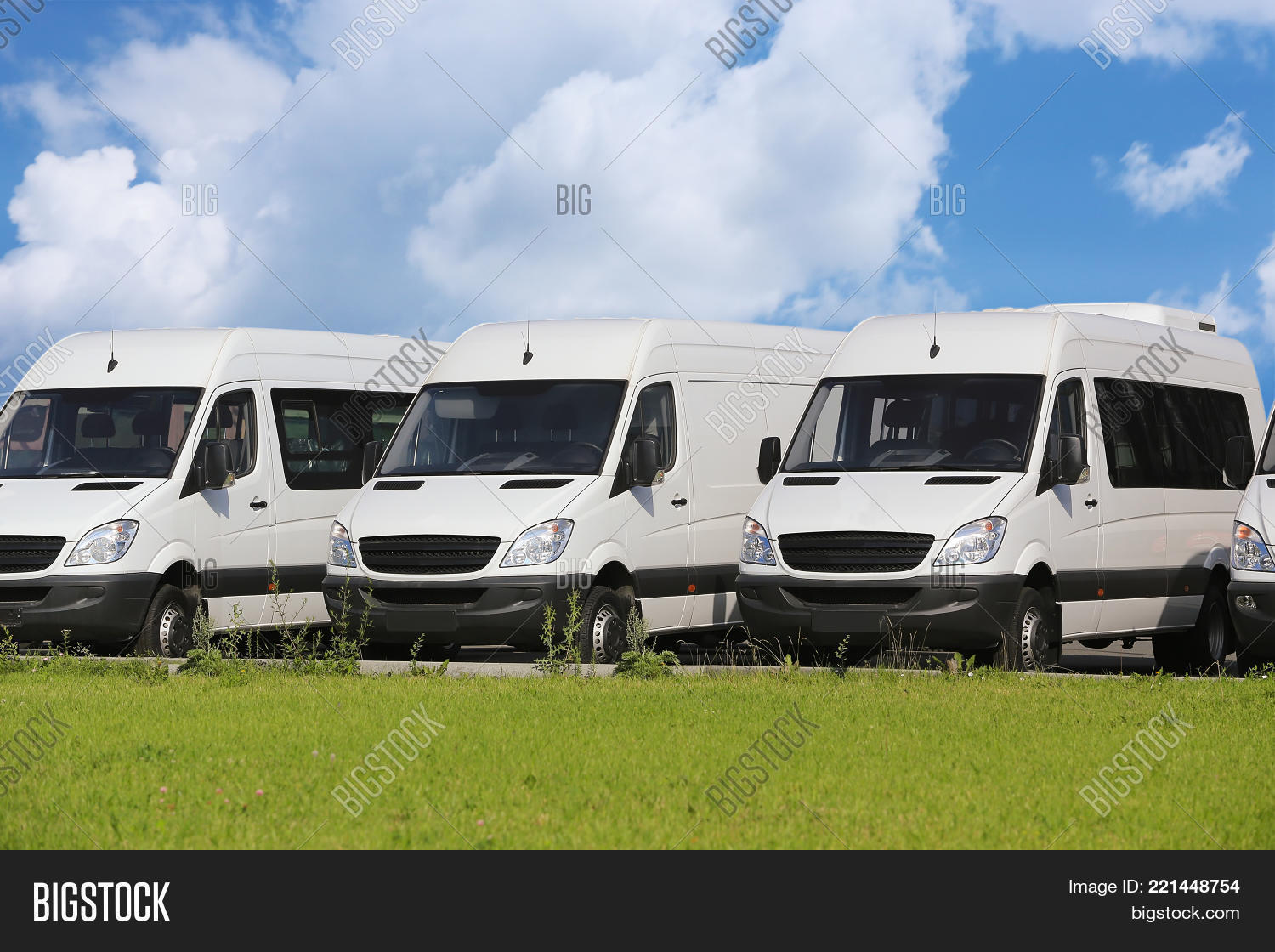 74c30b6ed2 number of new white minibuses and vans outside