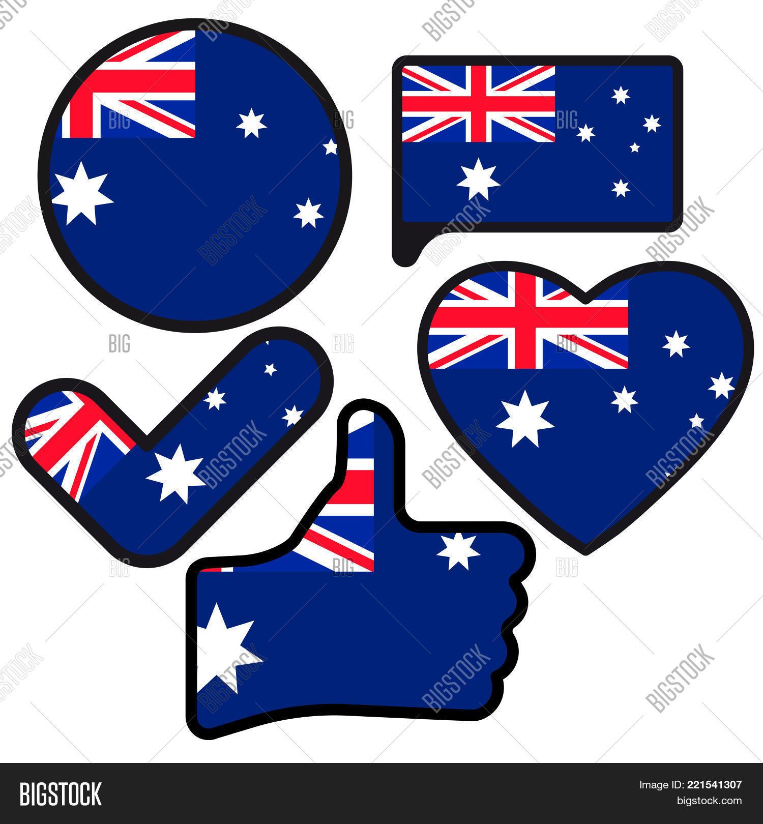 Flag Australia Shape Image Photo Free Trial Bigstock
