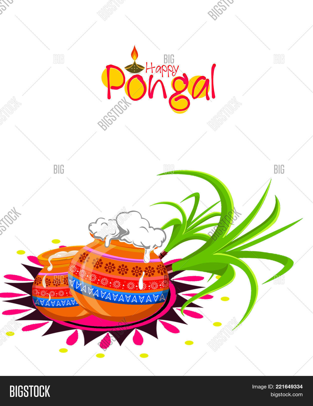 Happy pongal greeting image photo free trial bigstock happy pongal greeting card on beautiful bright background poster postcard m4hsunfo