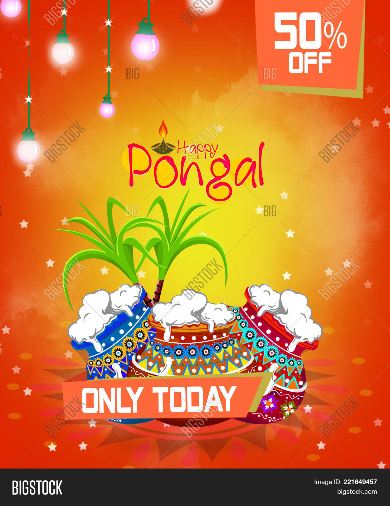 Happy Pongal Greeting Image Photo Free Trial Bigstock