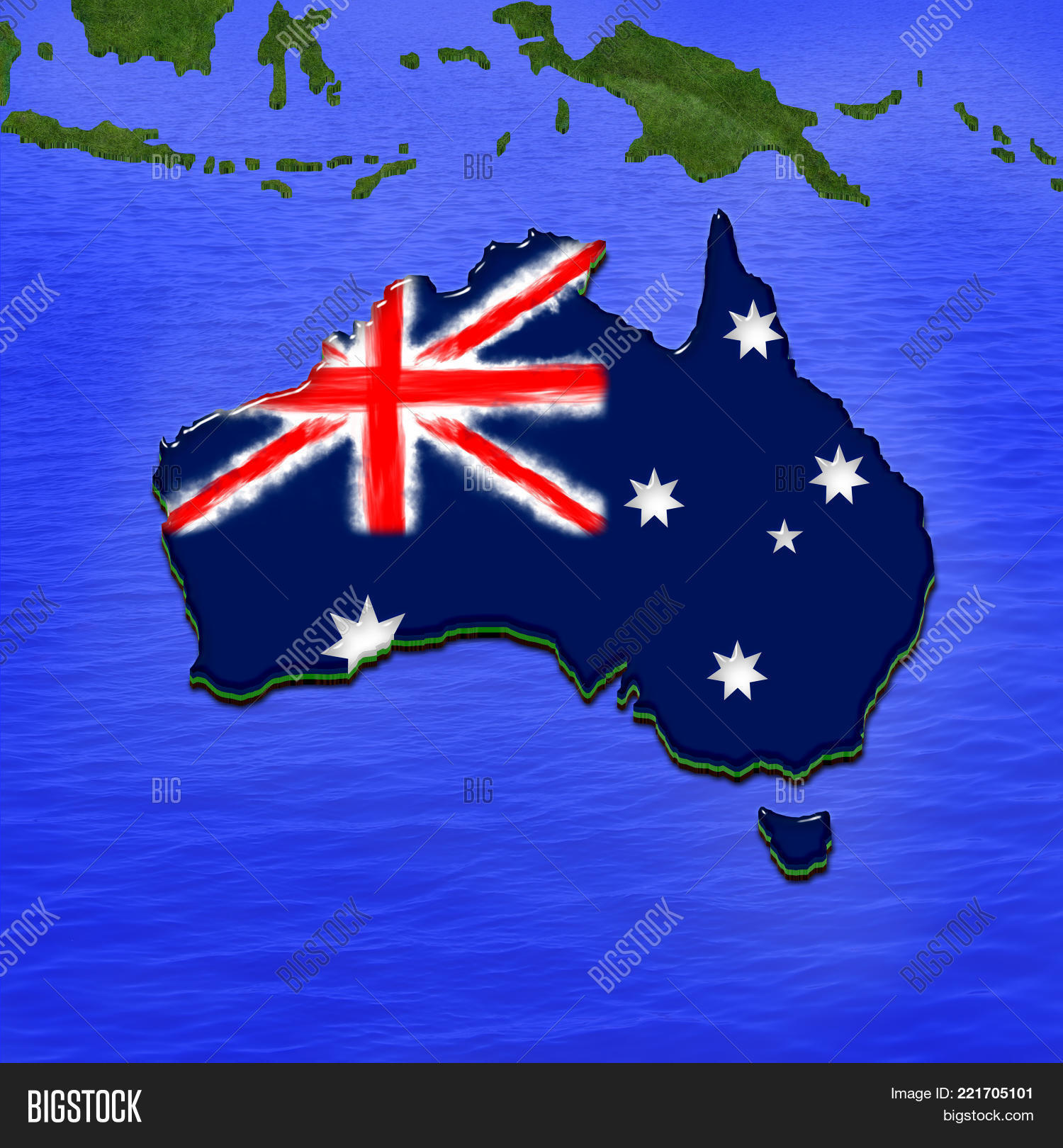 Free 3d Map Of Australia.3d Map Australia Image Photo Free Trial Bigstock