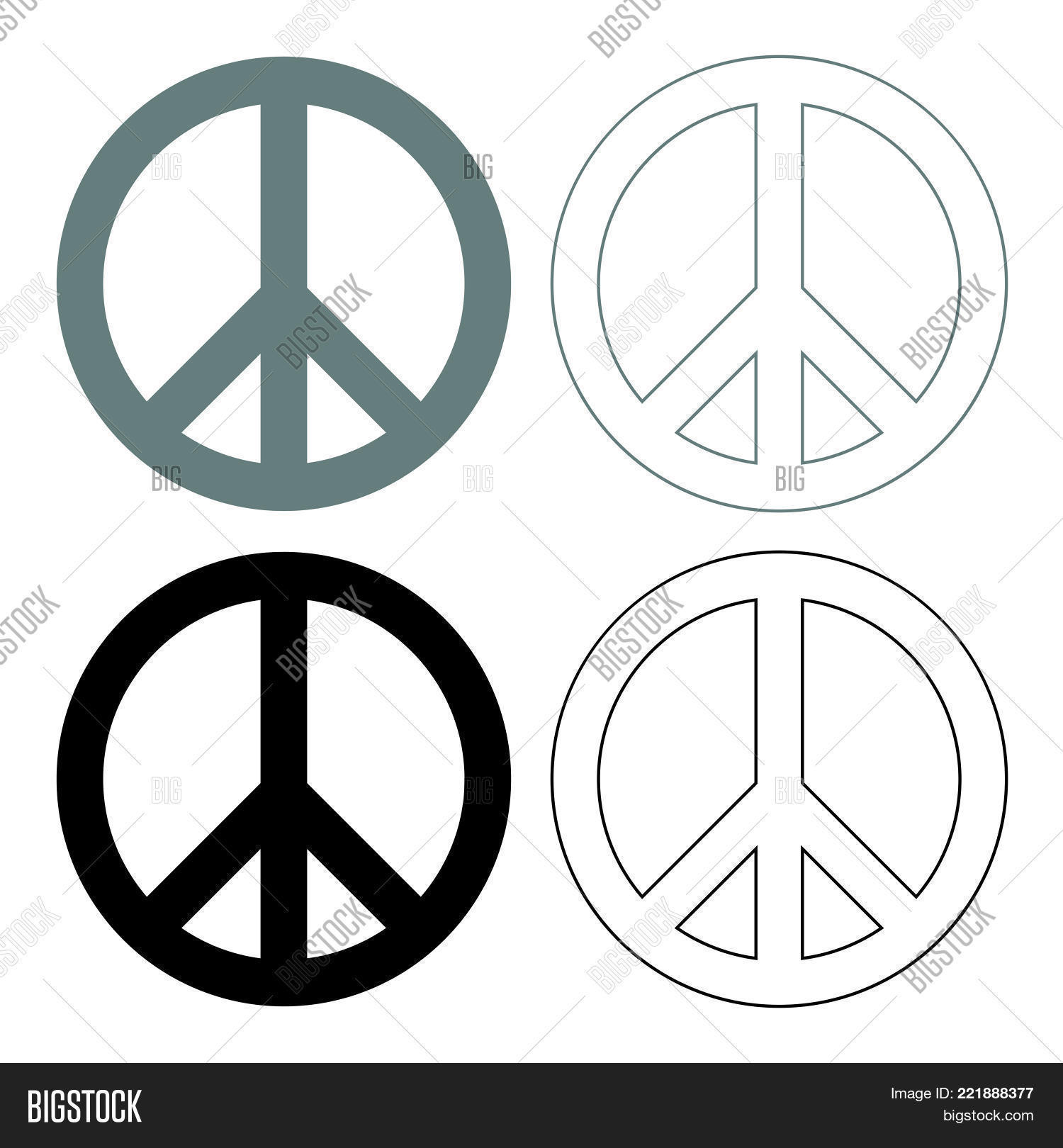 World Peace Sign Vector Photo Free Trial Bigstock