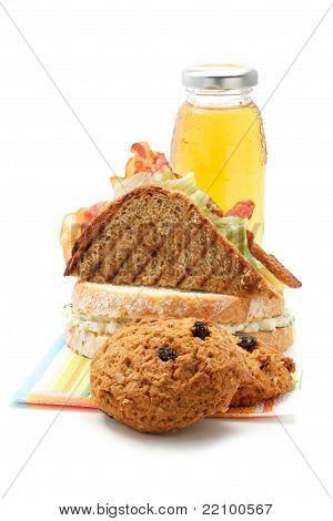 Cookies, Sandwiches, Juice