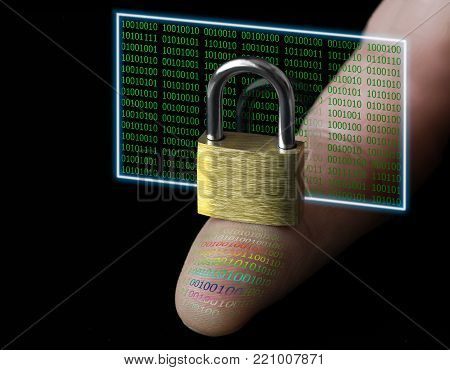 Concept of protection of personal data. Digital fingerprint.Protection of information