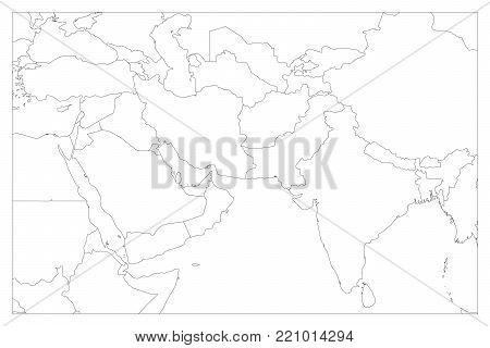 Political Map South Vector & Photo (Free Trial) | Bigstock