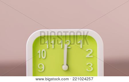 Clock at 12.00 PM meaning is lunchtime. Stop working and go to eat lunch and prepare to continue work at 1.00 PM