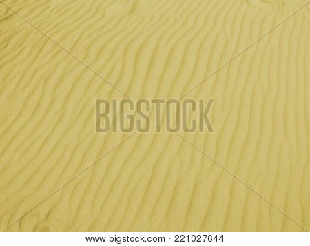 Fine sand waved by the wind, printable underlay