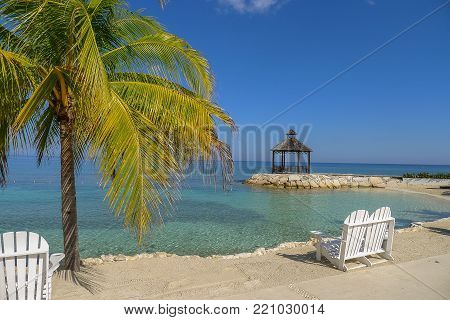 Lovers Seat On The Beach In Jamaica
