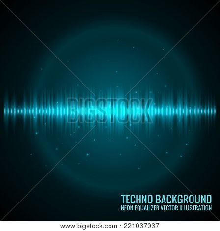 Vector sound waves. Audio Player. Audio equalizer technology, pulse musical. Vector illustration