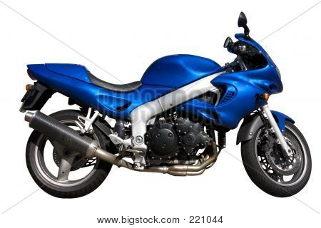 Motorbike With Detail Clipping Path