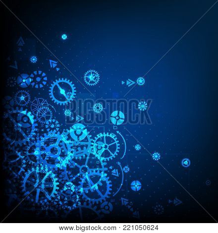 Abstract technology background. Cog wheel theme. Vector