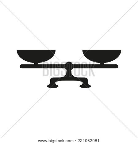 Balance scales icon on the white background
