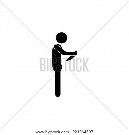 suicide knife depression ICON on white background