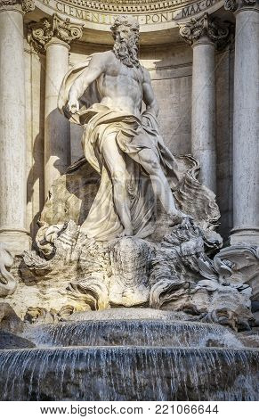 The Trevi Fountain is a fountain in the Trevi district in Rome, Italy, designed by Italian architect Nicola Salvi and completed by Pietro Bracci.