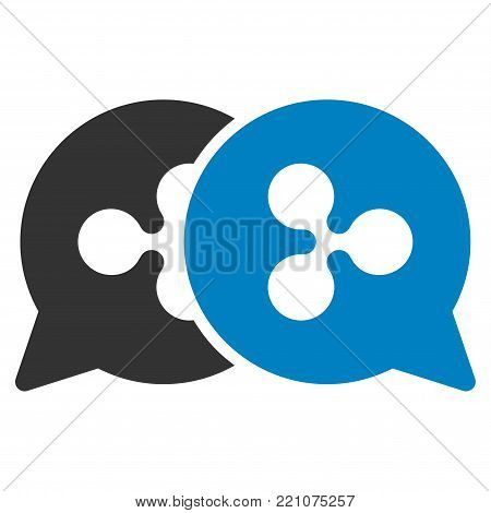 Ripple Bids flat vector icon. An isolated icon on a white background.