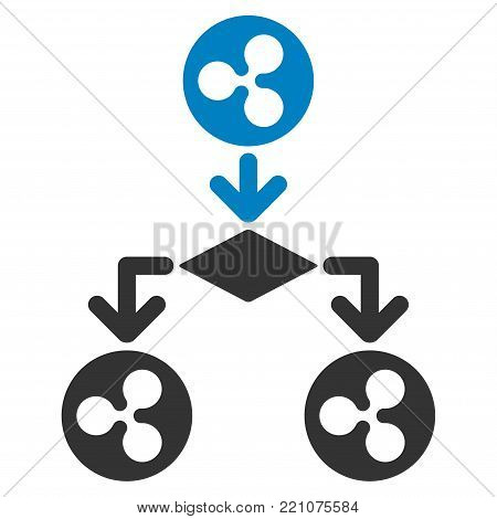 Ripple Cashflow Structure flat vector pictograph. An isolated icon on a white background.