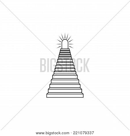stairway to paradise icon. Stairs in our life Icon. Premium quality graphic design. Signs, symbols collection, simple icon for websites, web design, mobile app on white background
