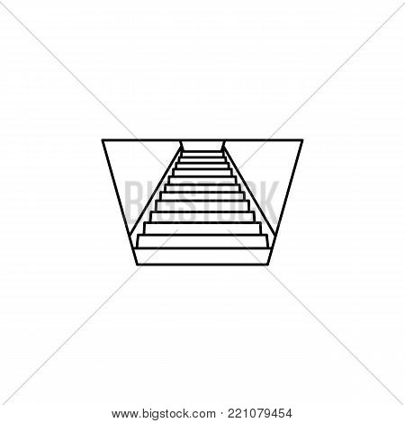 stairs down icon. Stairs in our life Icon. Premium quality graphic design. Signs, symbols collection, simple icon for websites, web design, mobile app on white background