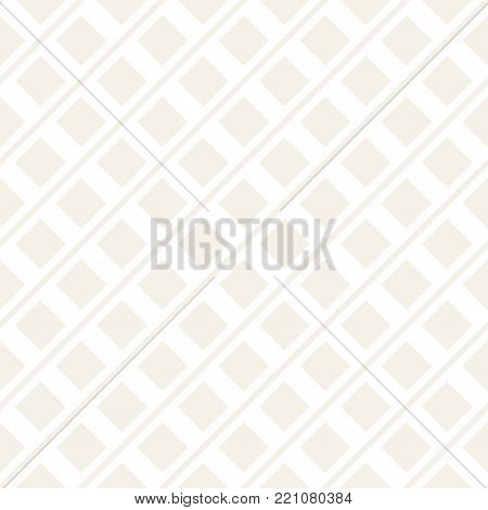 Abstract geometric lines lattice pattern. Seamless vector stylish background. Subtle simple repeating texture.