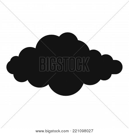 Upper cloud icon. Simple illustration of upper cloud vector icon for web
