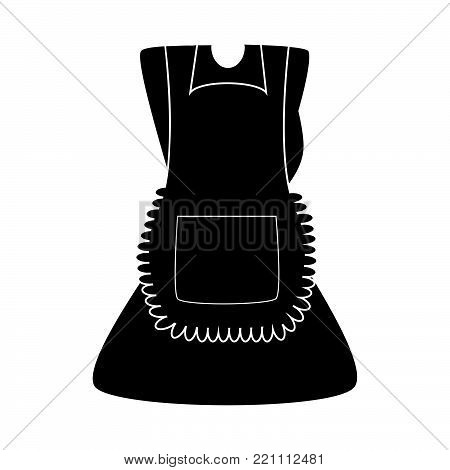 cartoon dress with pinafore silhouette  isolated on white background.