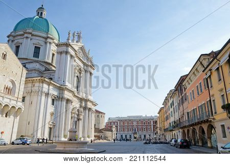 BRESCIA, ITALY. 25th October 2017. The New Cathedral and Paolo VI Square are two of the major attractions pulling increasing numbers of tourists into the city.