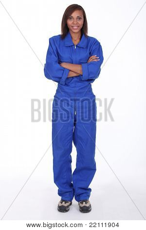 Woman wearing a boilersuit