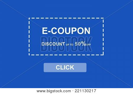 E-coupon, discount coupon web banner background, shopping on line promotion, on line shopping, digital marketing, business and technology concept
