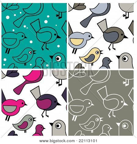 Cute seamless patterns