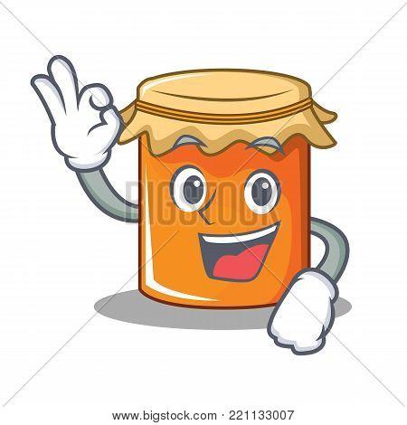 Okey jam character cartoon style vector illustration