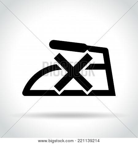 Illustration of no iron icon on white background